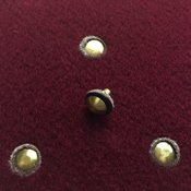 Rivets: brass rivets