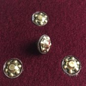 Rivets: figured brass rivet