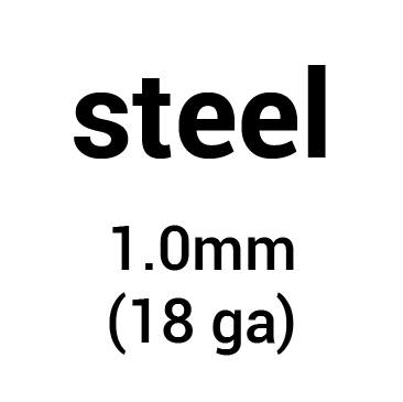 Metal for plate armour: cold-rolled steel 1.0 mm (18 ga)