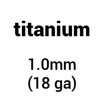 Metal for plate armour: titanium 1.0 mm (18 ga)