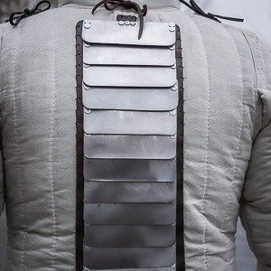 Additional back protection: Spine protection for self-sewing