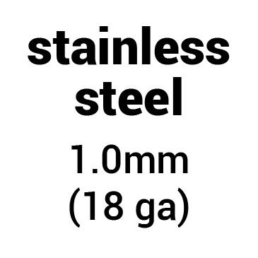 Metal for plate armour: stainless steel 1.0 mm (18 ga)