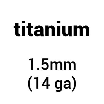 Metal for plate armour: titanium 1.5 mm (14 ga)
