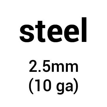 Metal for plate armour: cold-rolled steel 2.5 mm (10 ga)