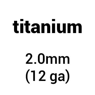 Metal for plate armour: titanium 2.0 mm (12 ga)