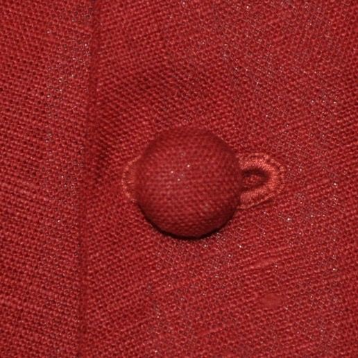 Buttons covered with fabric