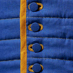 Fastenings: Buttons covered with fabric