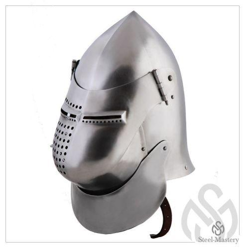 Helmet - metal helmet, medieval helmets by Steel Mastery