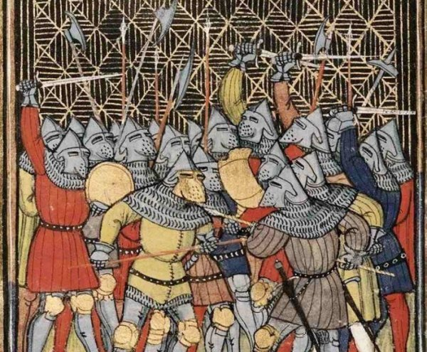 knights in medieval gambesons
