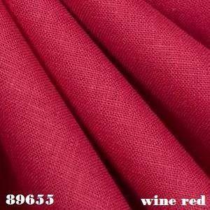 wine red linen