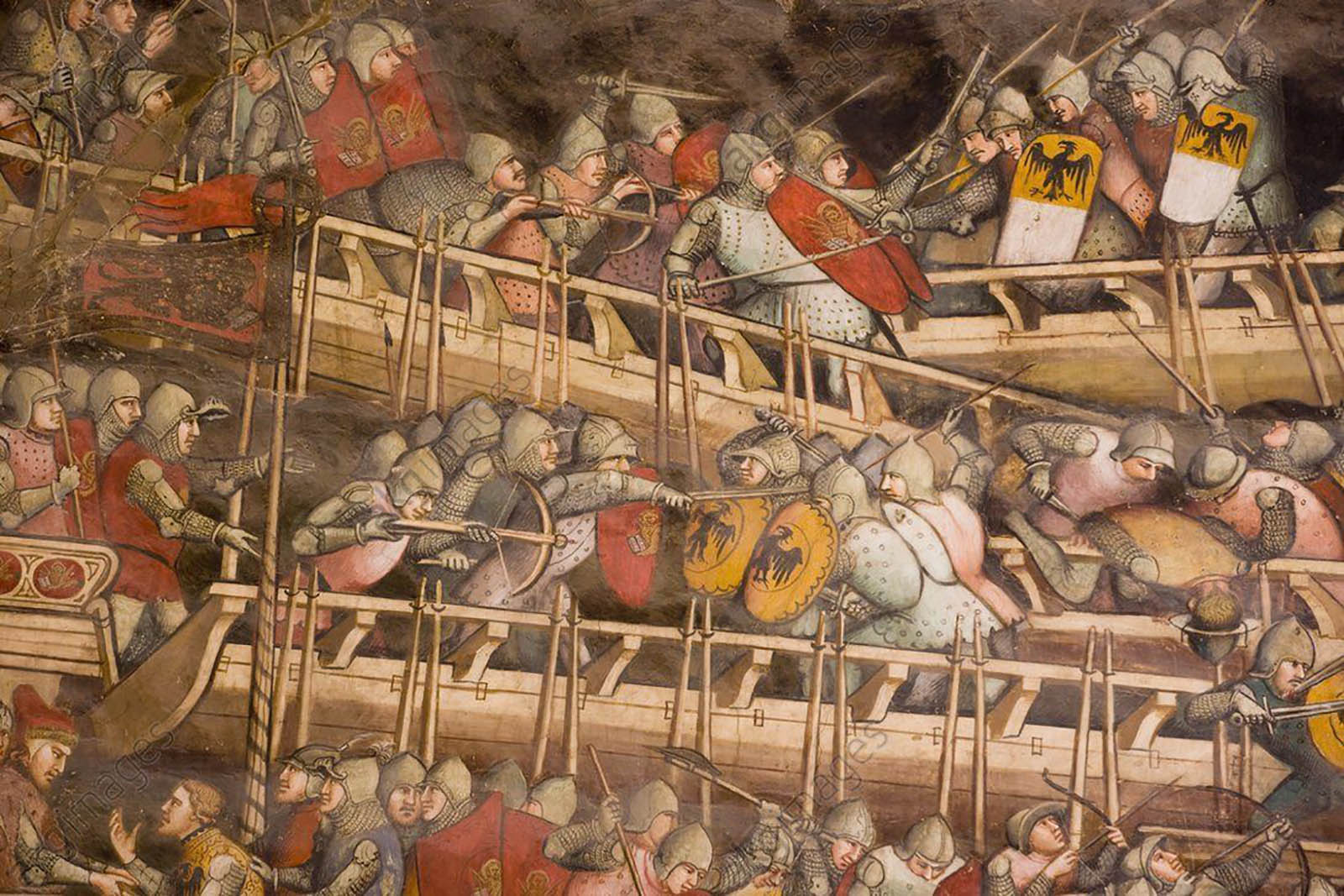 Fragment_from_Naval_Battle_of_Punta_San_Salvatore_by_Spinello_Aretino_XIV_century