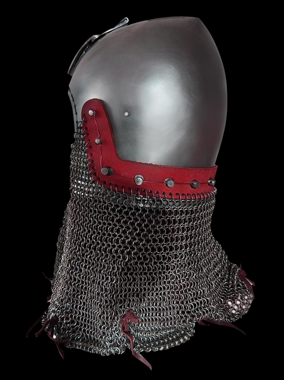 Bascinet helmet without a visor