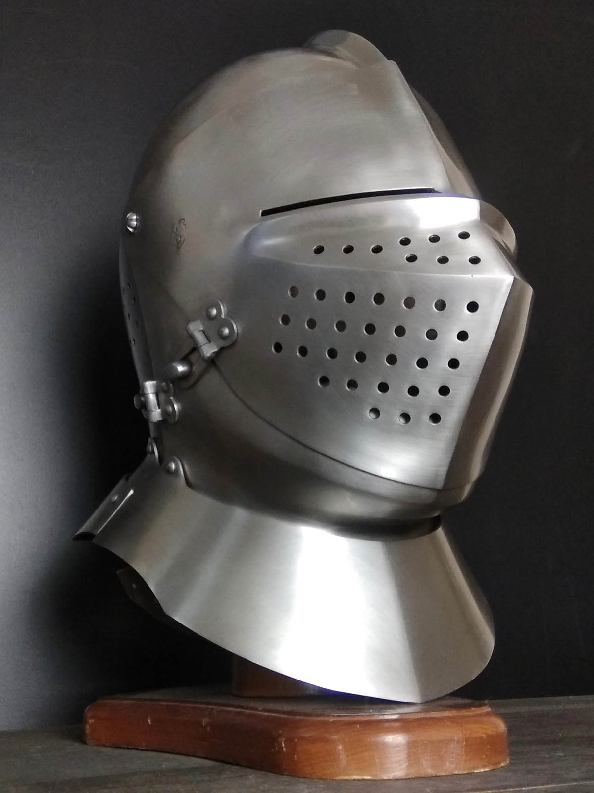 Updating of armet (closed helmet) 15th-16th century