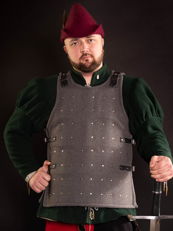 Brigandine armor for SCA and fencing (basic model)