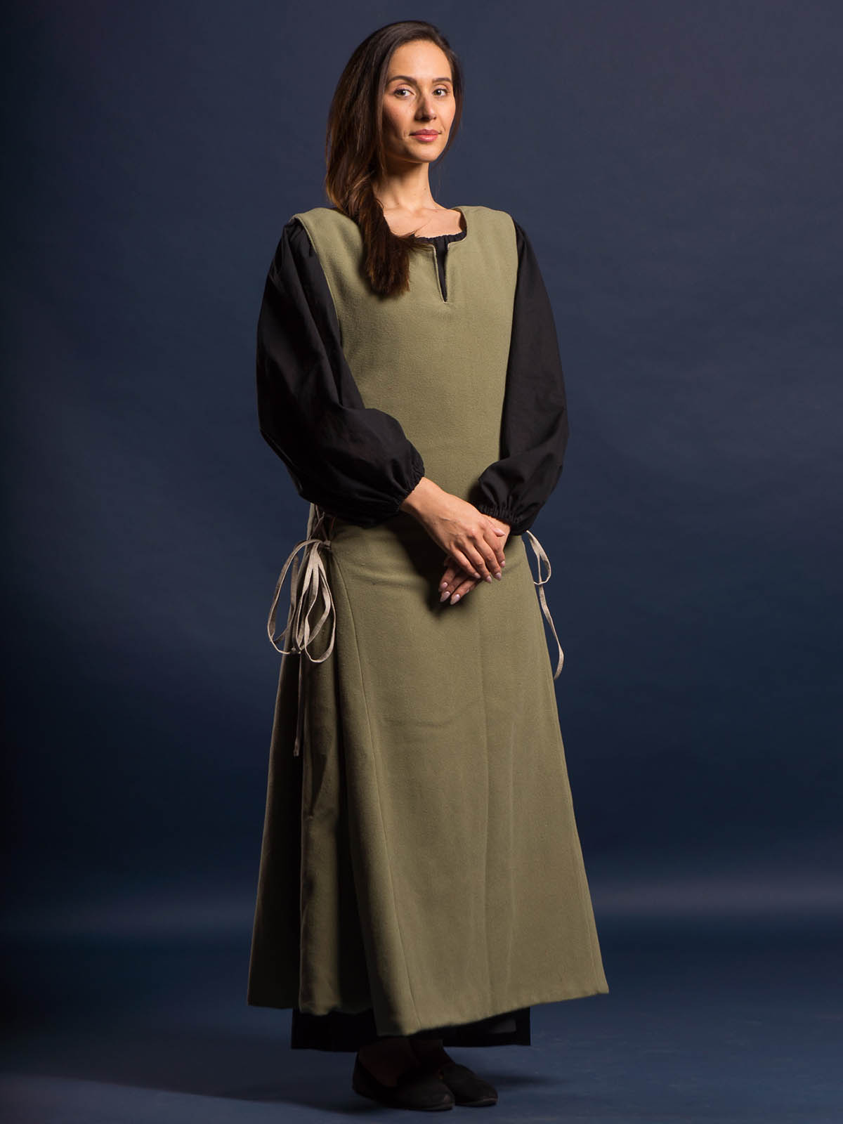 Medieval LARP Costume Garment green//white Landsknecht Shirt