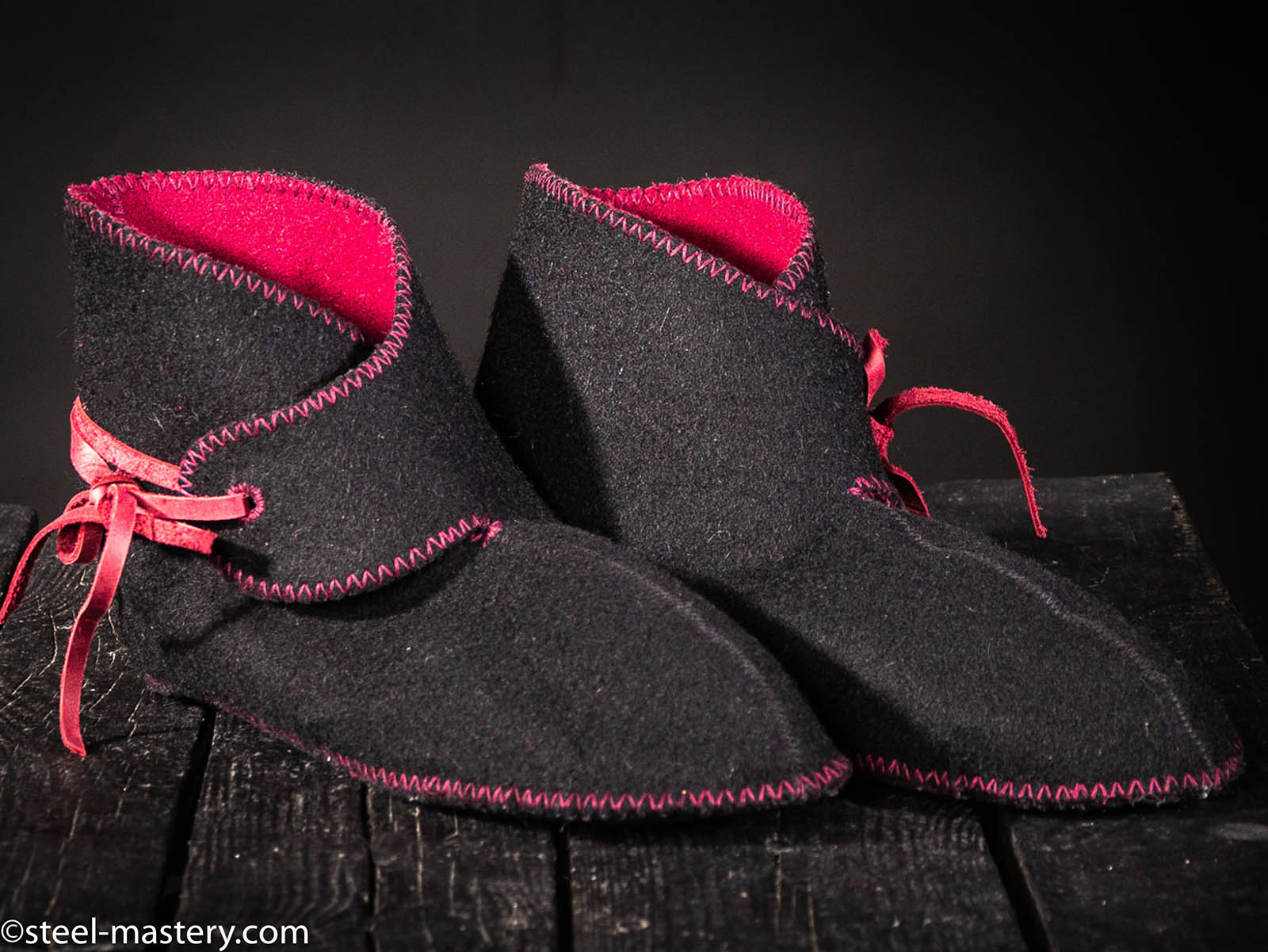 c508c76ec23d Medieval wool shoes with linen lining