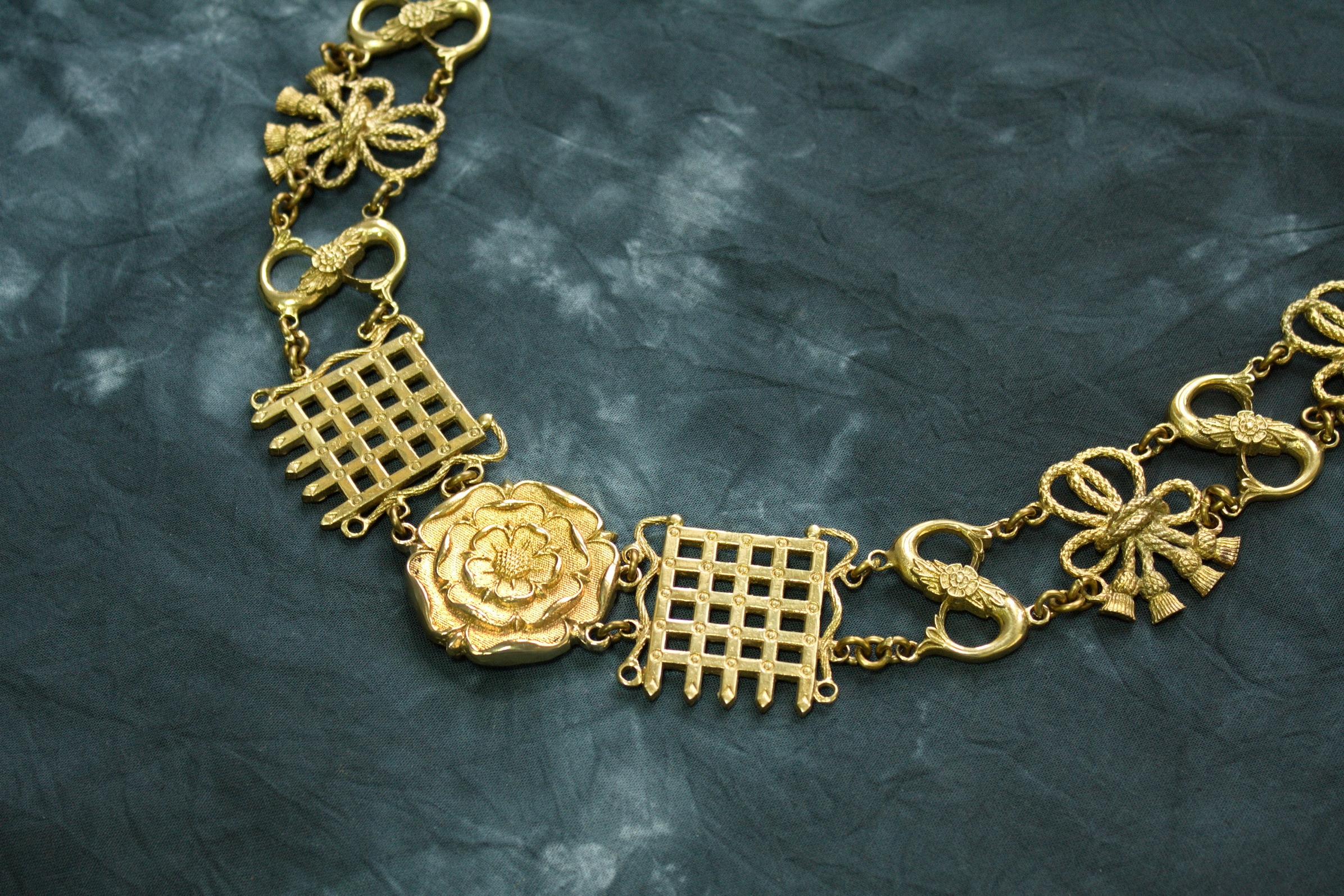 Chain of Office Bronze Customized Mens Tudor Chain of Office Neck Wear Livery Collar Renaissance Costume Jewelry Arthur Chain of Office